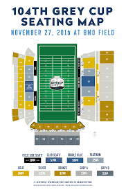 Argos Seating Chart Bmo Field Ticketing Details Unveiled For 104th Grey Cup Presented By