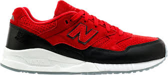 new balance shoes red. new balance. 530 suede low mens running shoe (red/black/white) balance shoes red