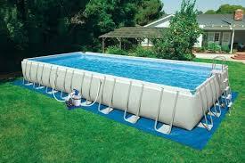intex above ground pool rectangle. Intex Ultra Frame Pool Linear Above Ground Rectangle