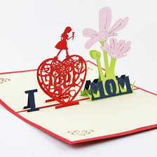 Mothers Greeting Card Mothers Day Card 3d Pop Up Greeting Card Handmade Thanks Mum Card