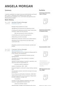 sample resume for apartment manager assistant property manager resume samples visualcv resume samples