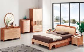 Light Cherry Bedroom Furniture B32 Bedroom In Cherry Light Two Tone High Gloss By Pantek