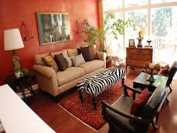 Zebra Print Living Room Decor Zebra Print Ottoman And Red Living Room Decor Animal Bathroom