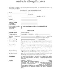 Confidential Memo Template Interesting Investment Memorandum Template Minetake