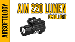 Aim Pistol Light Aim Sports 220 Lumen Sub Compact Pistol Flashlight Airsoftology Review