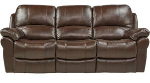 vercelli brown leather reclining sofa