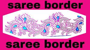 Saree Border Designs Images Simple Embroidery Art Draw Saree Border Designs Pencil Sketch With Colour