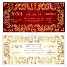 Voucher Gift Certificate Template Banknote Money