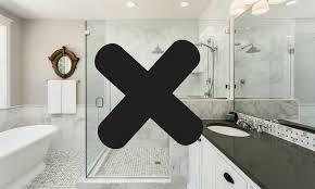 alternatives to glass shower doors