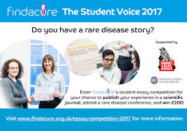 the student voice findacure advert rare disease story