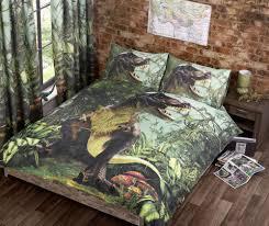 t rex duvet cover bed sets jurassic dinosaur