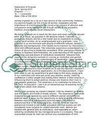 Statement Of Purpose Doctoral Program In Education Leadership Essay