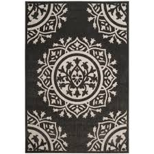 safavieh cottage charcoal cream 7 ft x 10 ft indoor outdoor area