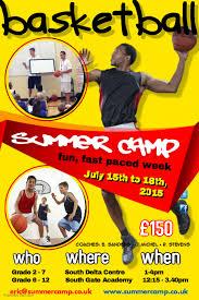 Summer Camp Flyer Template New Basketball Summer Camp Poster Template PosterMyWall