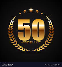 Anniversary Template Template Logo 50 Years Anniversary Royalty Free Vector Image