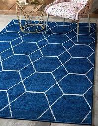 blue moroccan trellis rug navy frieze area