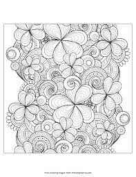 Patrick S Day Coloring Page Zentangle
