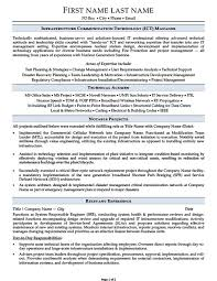 Infrastructure Communication Technology Ict Manager Resume