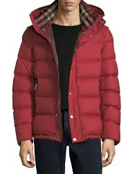 Men's Coats & Jackets at Neiman Marcus & Hartley Hooded Quilted Jacket, Red Adamdwight.com