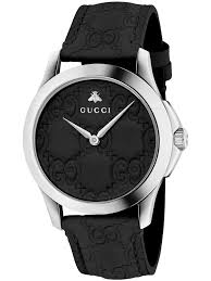 gucci 126 4. gucci ladies black leather strap watch ya1264031 | t.h. baker family jewellers 126 4