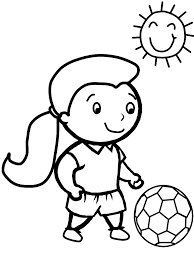 Soccer Sports Coloring Pages For Girls Free Printable Coloring Pages