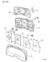 1994 chrysler lebaron gtc instrument cluster diagram 00000cvt