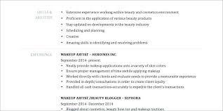 Makeup Artist Resume Templates Beauteous Artist Resume Template Makeup Examples Templates Mac Visual
