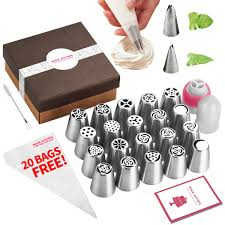 Russian Piping Tips Chart Magic Kitchen 46 Pcs Russian Piping Tips Leave Nozzles Set