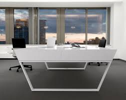 futuristic office desk. Kinzo Architecture Played With Futuristic Shapes To Give This Particular Desk Its Form And Visual Appeal. An Angular Design Gives It The Appearance Of A Office F
