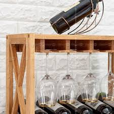 bordeaux solid wood wine rack