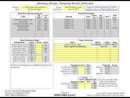 Brewing Recipe Calculator Template 2 0 Update Overview Deep Dive Walkthrough Example