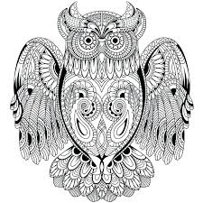 Free Printable Owl Coloring Pages For Adults