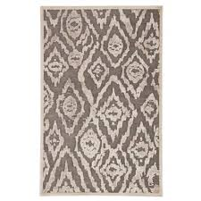 fables brown 5 ft x 7 ft 6 in ikat rectangle