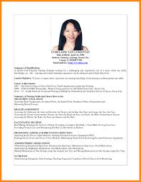 Best Sample Resume For Fresh Graduate Nursing Student