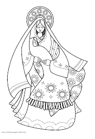 Search through 623,989 free printable colorings at getcolorings. Holy Mary And Jesus Christ Design Coloring Page Picture Mary And Jesus Coloring Pages Angel Coloring Pages
