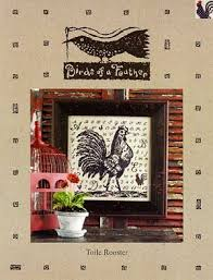 Toile Rooster Cross Stitch Chart