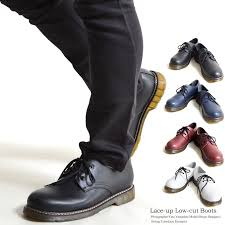 lace up shoes 3 hole synthetic leather bouncing thor martin