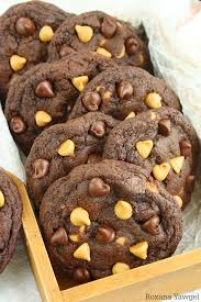 craving chocolate and peanut er try these soft and chewy chocolate peanut er chip cookies no chilling time required e together in a jiffy and