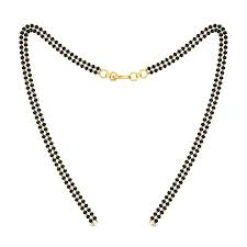 mangalsutra double line gold chain