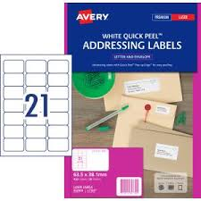 Avery Address Lables Avery Address Labels With Quick Peel For Laser Printers 63 5 X