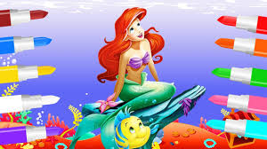 Small Picture Colors Song with Little Mermaid Lipstick Colours to Kids