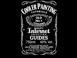custom jack daniel s template cooler painting ideas tutorial guide step by step photo detail