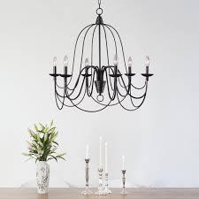alma 6 light bronze chandelier