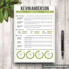 Buy Resume Templates Word Resume Template Cover Letter Kevin Anderson Creative 5