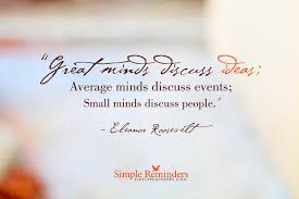 Great Minds Discuss Ideas By Eleanor Roosevelt Mcgill Media