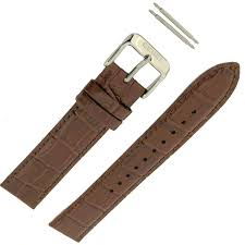 seiko leather strap brown 20mm factory original watch band spring bars com