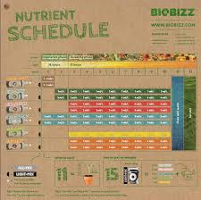 Roots Organic Feeding Chart Biobizz Feeding Chart Pro Results How To Get Them