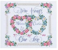 Wedding Cross Stitch Patterns Fascinating Janlynn Two Hearts One Love Wedding Sampler Cross Stitch Kit 48