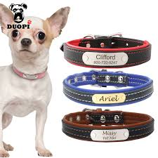 personalized engraved dog collar custom leather