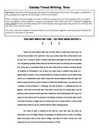 the great gatsby essay timed writing prompt tone tpt the great gatsby essay timed writing prompt tone